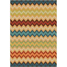 Chevron Print Area Rugs by Orian Rugs Rural Road Red 7 Ft 10 In X 10 Ft 10 In Indoor Area