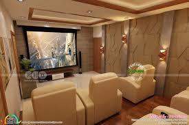 kerala home theater interior set up kerala home design and floor