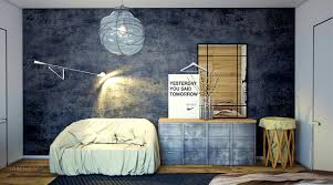apartments pleasant industrial style bedroom interior design