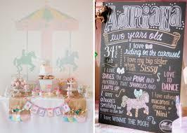 Horse Birthday Decorations Kara U0027s Party Ideas Carousel Horse Merry Go Round 2nd Birthday