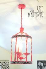 Easy Chandelier Upcycle A Plain Chandelier Into A Beaded Showpiece