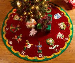 Moose Christmas Tree Skirt Best Felt Tree Skirt Photos 2017 U2013 Blue Maize
