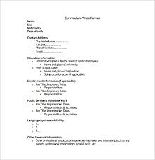 simple curriculum vitae format free basic resume templates 40 basic resume templates free