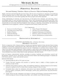 Best Sample Resume Format by Personal Training Resume Samples Best Template Collection