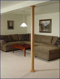 basement wrap pole wrap oak and mdf the best solution for finishing basement