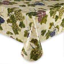 Vinyl Table Cover Grape Vine Vinyl Tablecloth Bed Bath U0026 Beyond