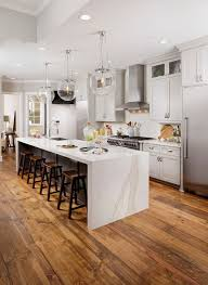 Kitchen Cabinet With Countertop Best 25 Waterfall Countertop Ideas On Pinterest Marble Kitchen