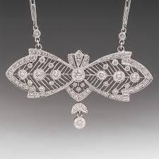 vintage diamond pendant necklace images Estate and vintage necklaces and pendants eragem jpg