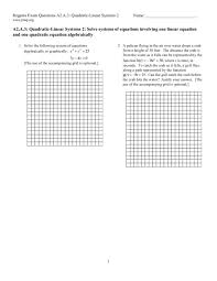 linear quadratic systems worksheet 28 templates systems of