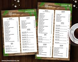 menu bar templates 20 best menu templates images on food menu beverages