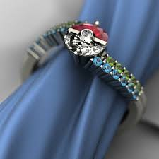 pokeball engagement ring this poké engagement ring is fit for a pokémon master photo