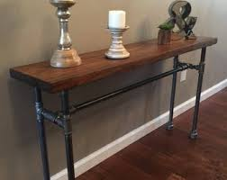 wood and pipe table pipe table etsy