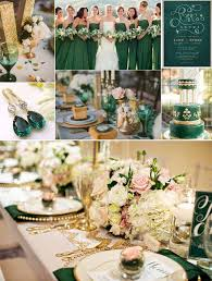 themed wedding ideas emerlad green and gold wedding ideas themed wedding