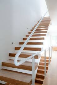 Modern Banister Rails Featured White Modern Staircase For Interior Design With Modern