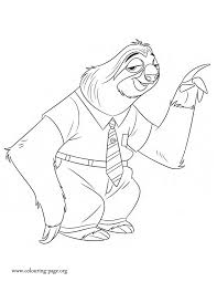 disney movies coloring pages meet flash he is a three toed sloth in the upcoming disney movie