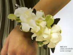 wristlet corsage white orchid wristlet corsage other colors available in amherst