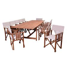 francisco handcrafted solid wood 13 piece dining room set