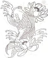 koi fish half sleeve sle illustrations