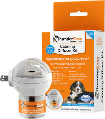 calming collar thunderease dog calming diffuser kit chewy com
