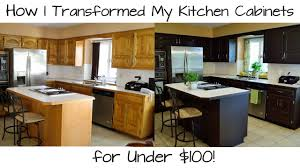 diy espresso kitchen cabinets how i transformed my kitchen cabinets for 100
