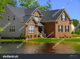 beautiful colonial house americal city stock photo 4511737