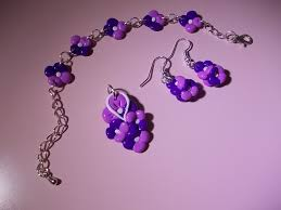 quilling earrings set purple and pink fimo jewelry set design