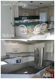 unfinished kitchen cabinets inset doors kitchen makeover from partial overlay to inset