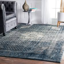 Blue Grey Area Rugs Nuloom Traditional Distressed Blue Grey Area Rug 5 3 X