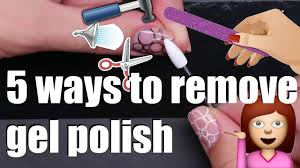 how to remove gel nail polish at home safely 5 ways gelpolish