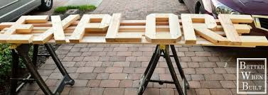 make large wood letters out of 2x4 and furring strips hometalk