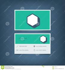 modern flat design business card template graphic stock vector