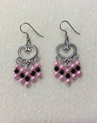 Black Bead Earrings Bronze Chandelier Key Earrings Bronze Keys Earrings Skeleton Keys Church Keys