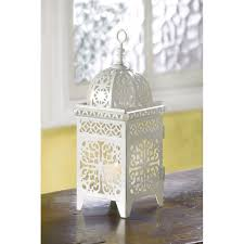 25 white moroccan wedding candle lantern centerpieces