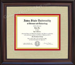 ohio state diploma frame iowa state cyclones diploma frame in walnut or mahogany