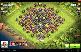 layout vila nivel 9 clash of clans clash of clans layout de defesa centro vila nível 9 4 morteiros