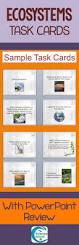 ecology task cards ecosystems biomes student high schools