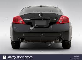 Nissan Altima Black - 2008 nissan altima 2 5 s in black low wide rear stock photo