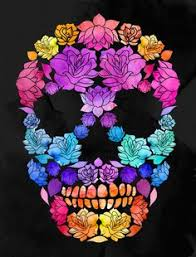 flower skull by lia shaffer via behance elena pinterest