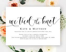 post wedding reception invitations reception invitation etsy