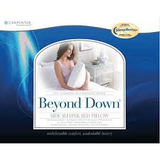bed pillows for side sleepers beyond down side sleeper pillows 2 pack sam s club