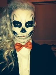 halloween makeup inspired by lady gaga skull skeleton makeup