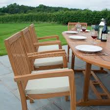 8 Chair Patio Dining Set - teak garden furniture dining set eight seat oval teak table
