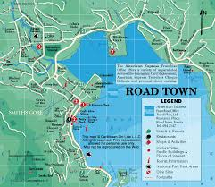 map of the bvi road town map tortola islands
