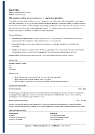 Sample Of Resume With No Work Experience by Sample Resume For High Students With No Work Experience