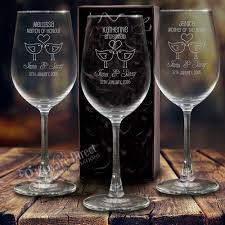 personalized glasses wedding engraved 350ml wedding wine glass for the bridal party