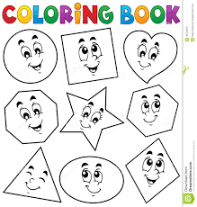 coloring book shapes 1 stock vector image 46753879