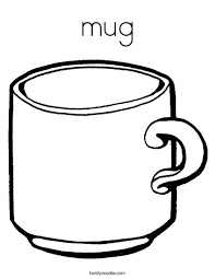 Cup Coloring Page Mug Coloring Page Twisty Noodle