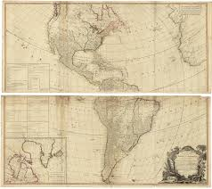 America North And South Map by A New Map Of The Whole Continent Of America Divided Into North