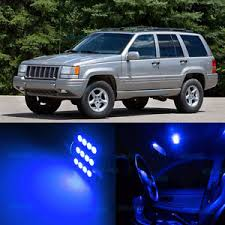 jeep cherokee lights 7pcs blue smd led interior lights kit for 1993 1998 jeep cherokee zj