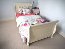 Single Sleigh Bed Aspace Single Sleigh Bed In Antique White In Lisburn County